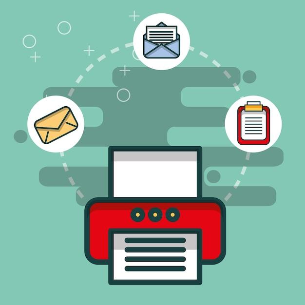 Stampante e-mail Vettore Premium