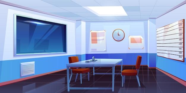 Stanza di interrogatorio nell'interno della stazione di polizia Vettore gratuito