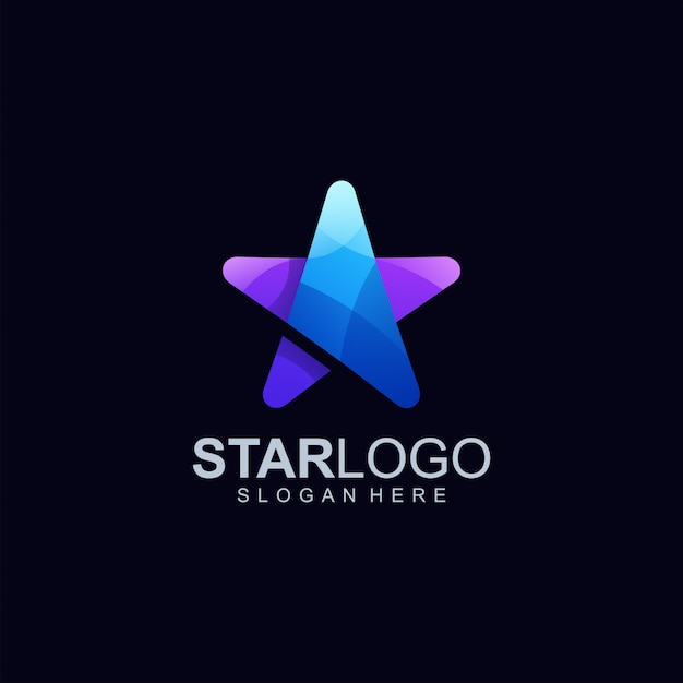 Star logo design illustrazione vettoriale Vettore Premium