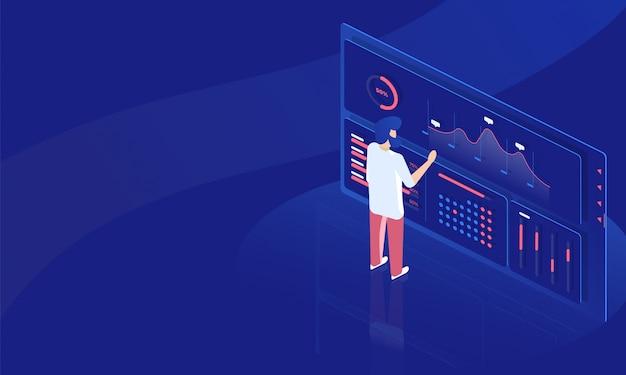 Statistiche finanziarie Vettore Premium