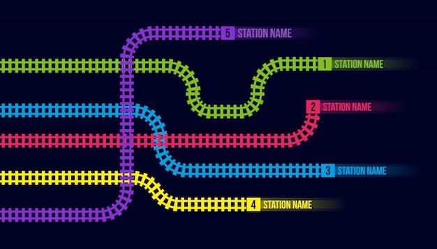 Stazione ferroviaria o mappa della metropolitana Vettore Premium