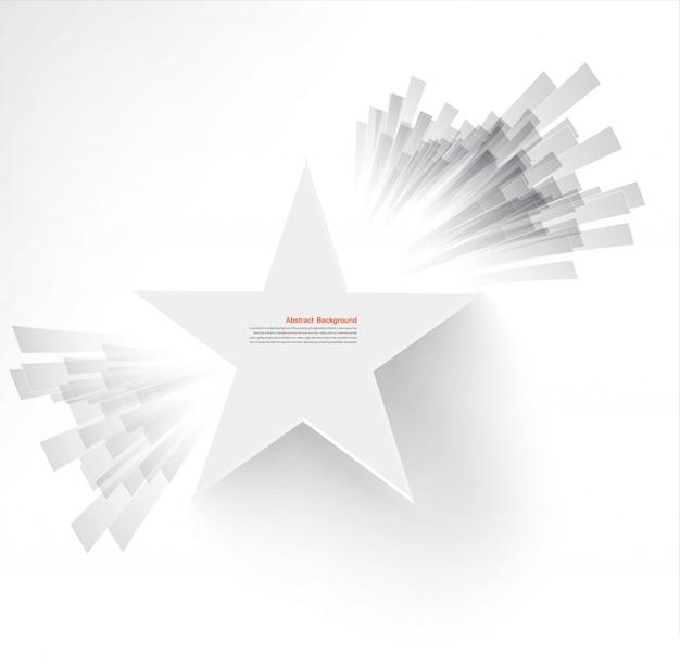Stella bianca di vettore. ray e l'esplosione Vettore gratuito