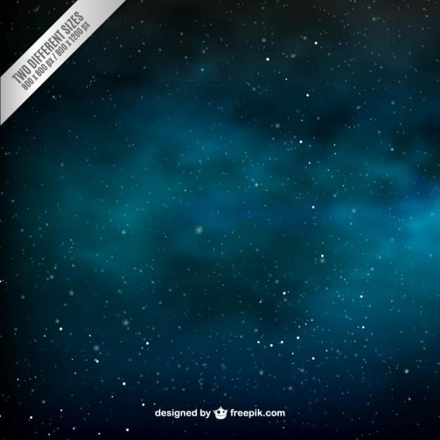 Stella riempito il cielo di sfondo Vettore gratuito
