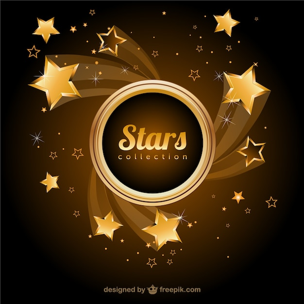Stelle d'oro vector background Vettore gratuito