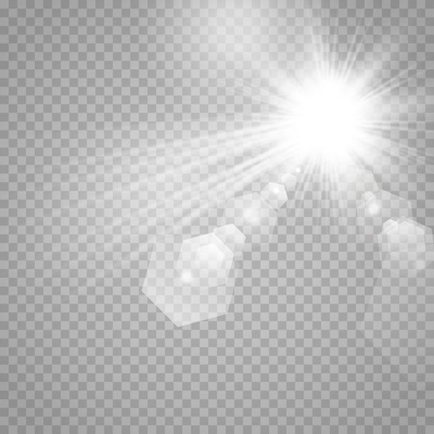 Stelle su uno sfondo bianco e grigio trasparente su una scacchiera. Vettore Premium