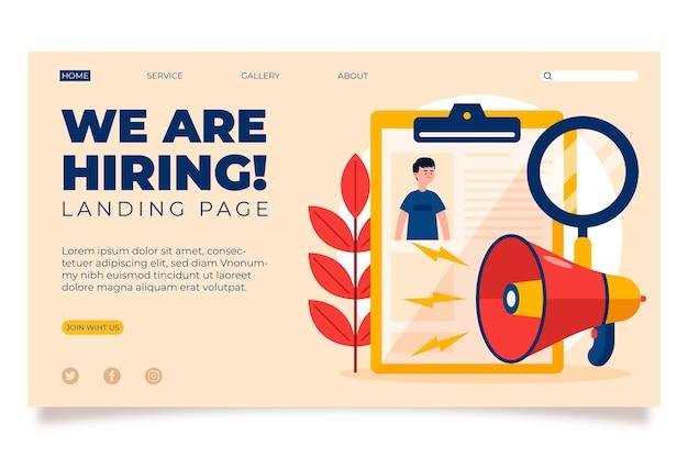 Stiamo assumendo - landing page Vettore gratuito
