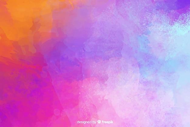 Stile acquerello colorato sfondo dipinto a mano Vettore gratuito