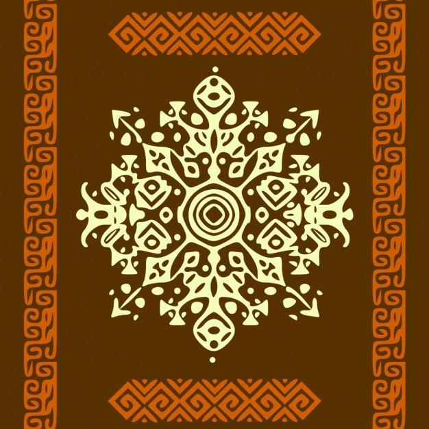 Stile africano cerchio ornamento o mandala Vettore gratuito