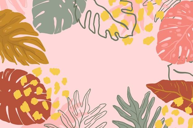 Stile astratto foglie tropicali Vettore gratuito