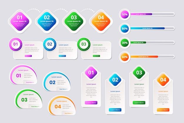 Stile del modello di raccolta elemento infografica Vettore gratuito