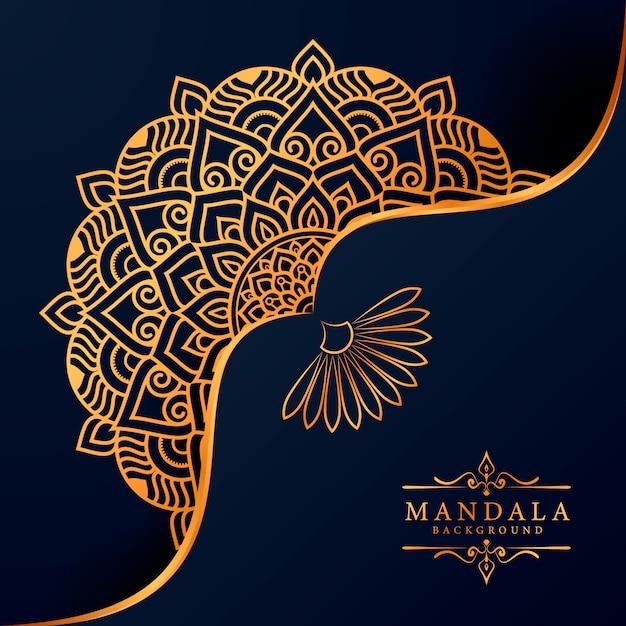 Stile di arabesque di lusso del fondo della mandala del fiore Vettore Premium