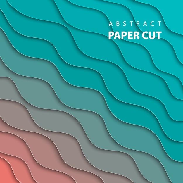 Stile di carta astratto 3d, layout di progettazione Vettore Premium