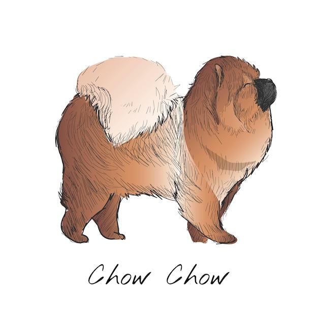 Stile di disegno dell'illustrazione del cane Vettore gratuito