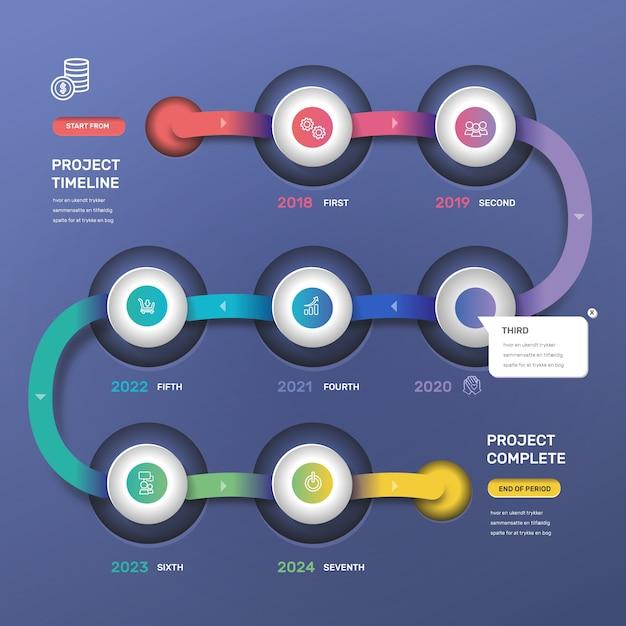 Stile di gradiente infografica timeline Vettore gratuito