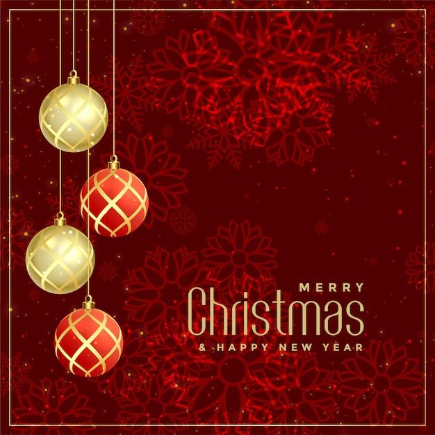 Stile di lusso merry christmas design di auguri Vettore gratuito