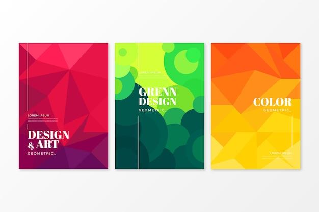 Stile di raccolta copertina geometrica astratta Vettore gratuito