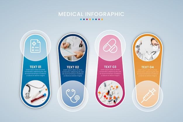Stile di raccolta infografica medica Vettore gratuito
