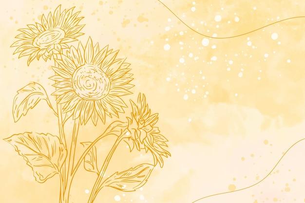 Stile di sfondo con elementi disegnati a mano Vettore gratuito