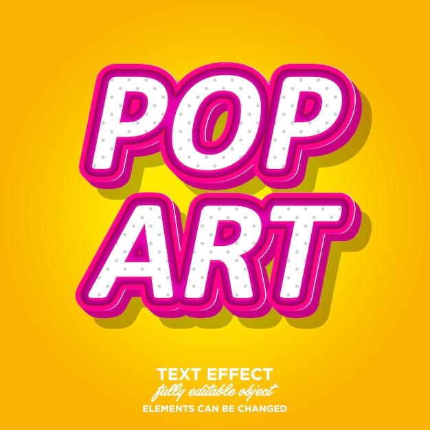 Stile di testo 3d pop art mignolo Vettore Premium