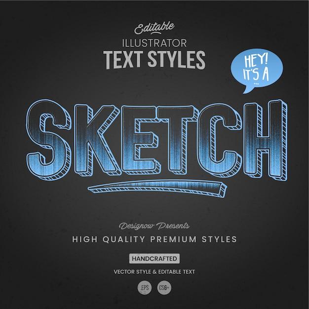 Stile di testo del menu di lavagna Vettore Premium