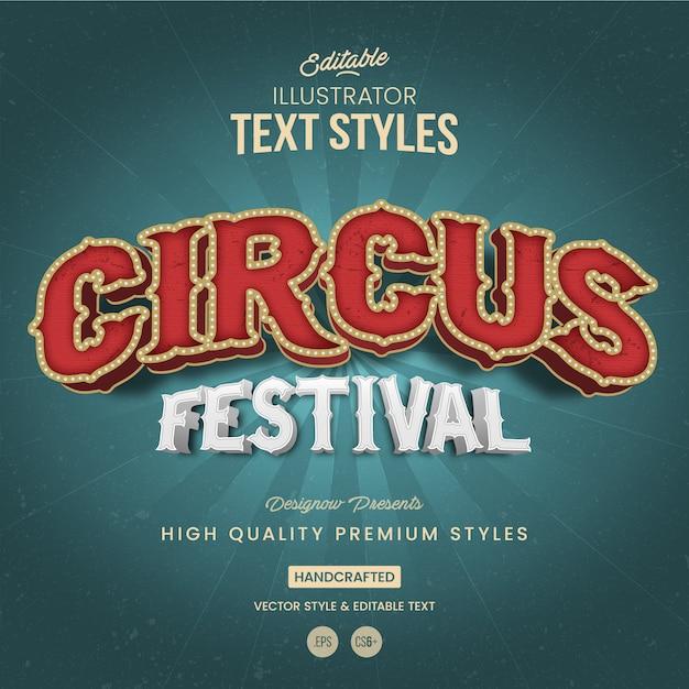 Stile di testo festival del circo Vettore Premium