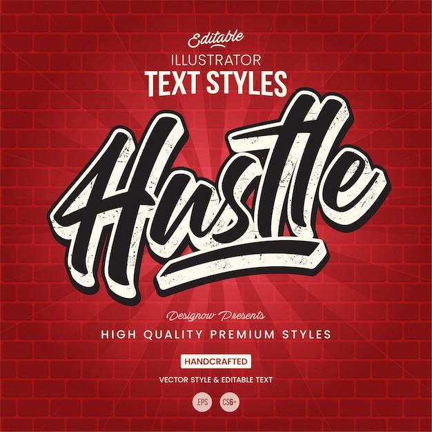 Stile di testo graffiti Vettore Premium