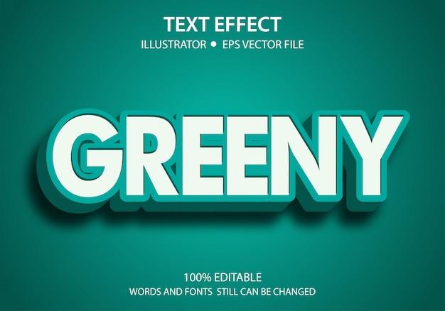 Stile di testo modificabile effetto verde Vettore Premium
