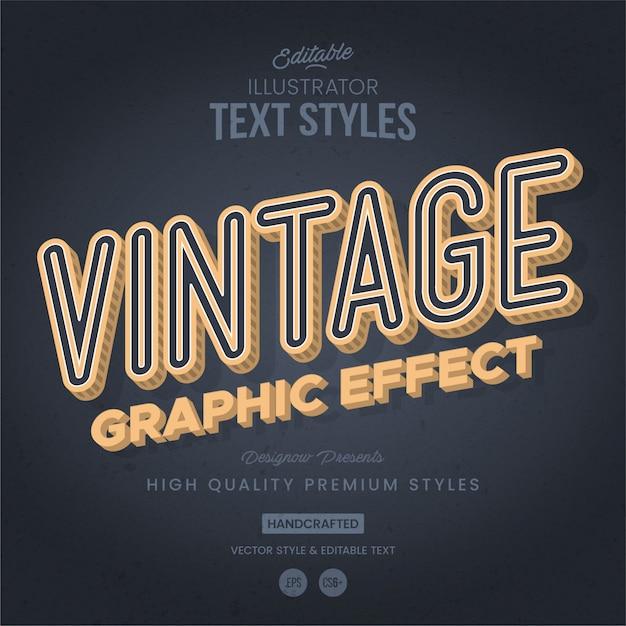 Stile di testo retrò e vintage Vettore Premium