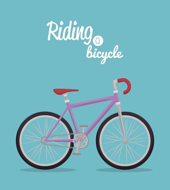 Stile di vita della bicicletta Vettore Premium