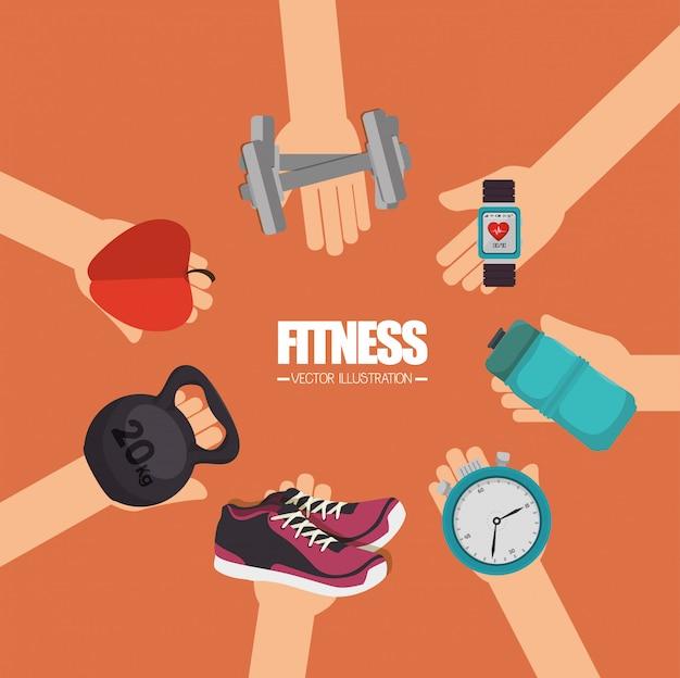 Stile di vita fitness Vettore Premium