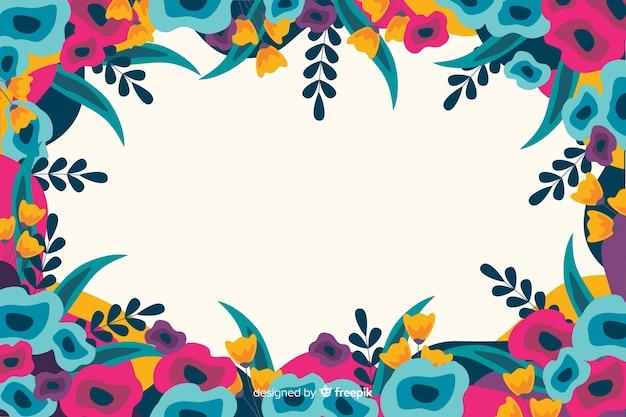Stile dipinto sfondo di fiori colorati Vettore gratuito