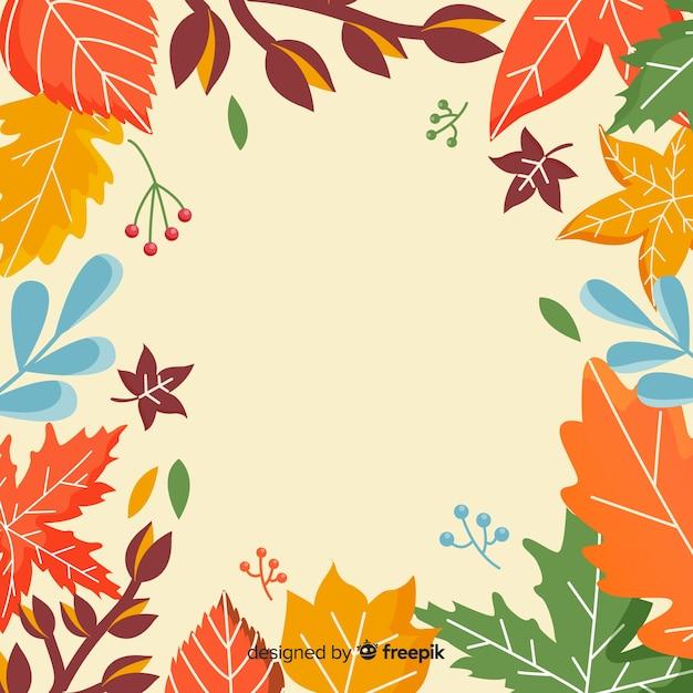 Stile disegnato a mano del fondo di autunno Vettore gratuito