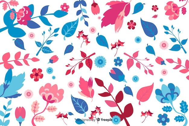 Stile disegnato a mano floreale della priorità bassa Vettore gratuito