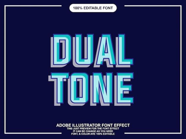 Stile grafico moderno doppia tipografia modificabile Vettore Premium