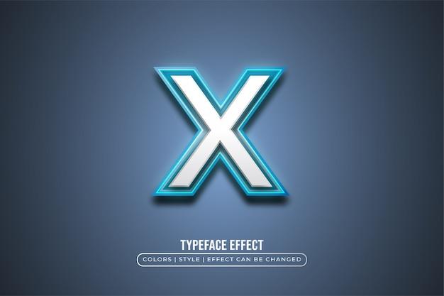 Stile grassetto con effetto neon blu Vettore Premium