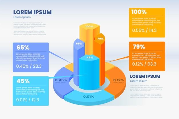 Stile infografica isometrica Vettore gratuito