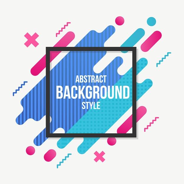 Stile piano astratto sfondo colorato Vettore Premium