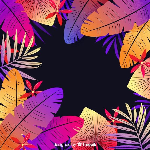 Stile piano colorato sfondo floreale Vettore gratuito