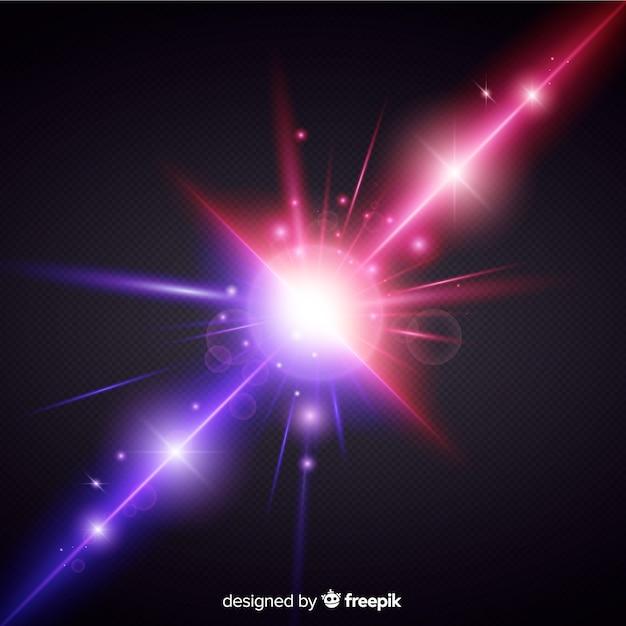 Stile realistico di effetto di due forze di luce Vettore gratuito