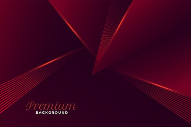 Stile rosso geometrico astratto premium Vettore gratuito