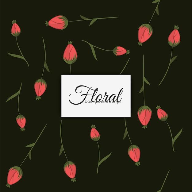 Stile vintage di fiori senza cuciture Vettore gratuito