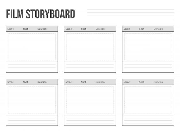 Storyboard di film professionali Vettore Premium