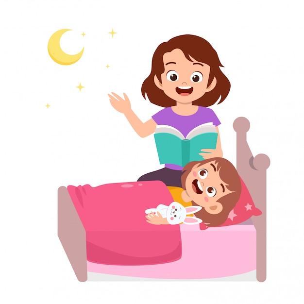 Storytime con sua madre Vettore Premium