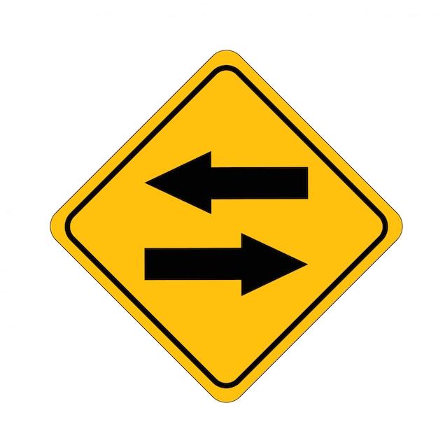 Strada a due vie dello scambio di segnali stradali Vettore Premium