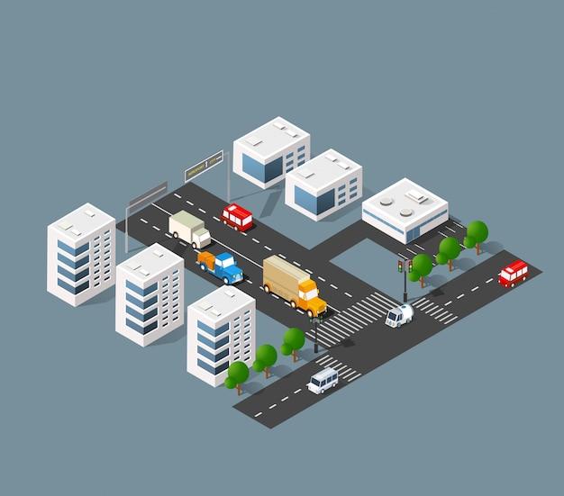 Strada dei trasporti urbani Vettore Premium