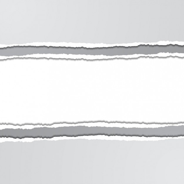 Strappato sfondo bianco con texture carta Vettore gratuito