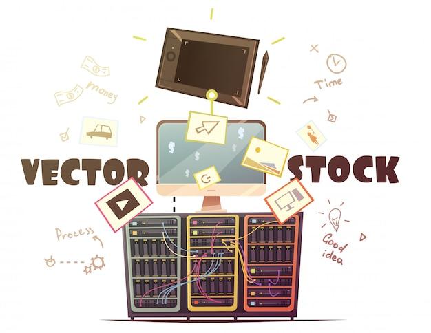 Strategie aziendali per un contributo proficuo e proficuo con denaro e tempo Vettore gratuito
