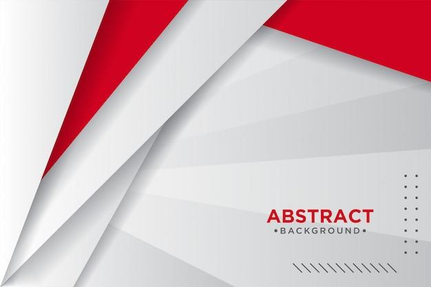 Strati sovrapposti rossi e bianchi astratti Vettore Premium