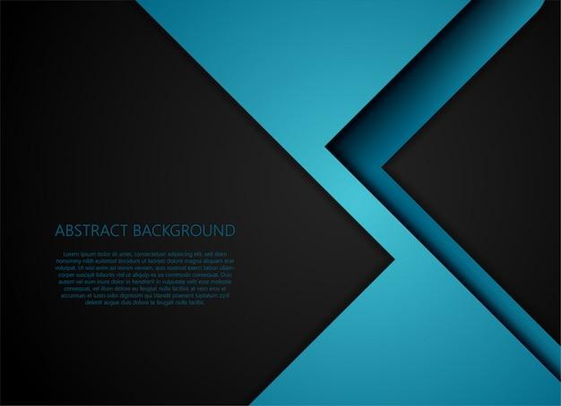 Strato blu geometrico e sovrapposizione su sfondo grigio Vettore Premium