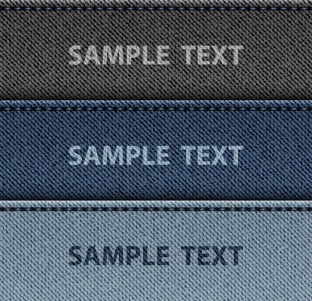 Strisce di jeans con punti Vettore Premium